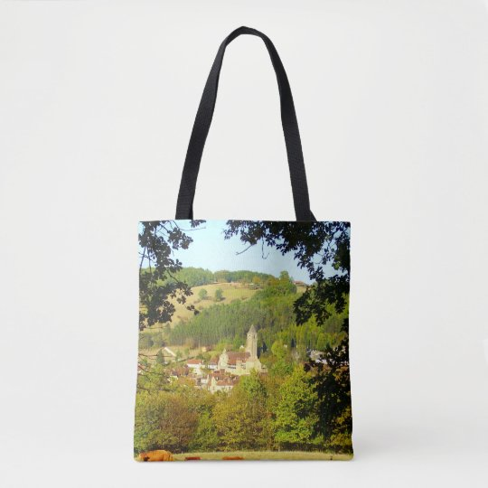 Village of Plazac All Over Print Tote Bag