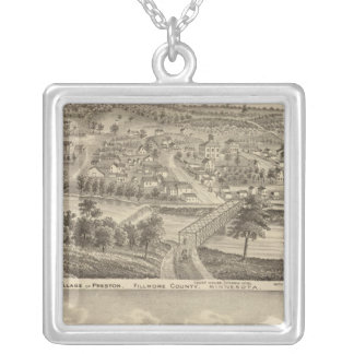 Village of Preston and South Ruthford, Minnesota Silver Plated Necklace