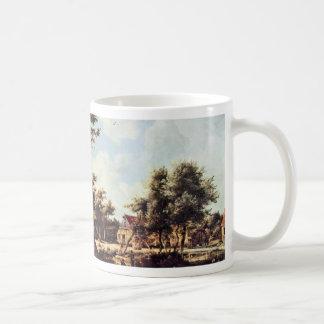 Village Of The Watermills By Hobbema Meindert Bes Coffee Mugs