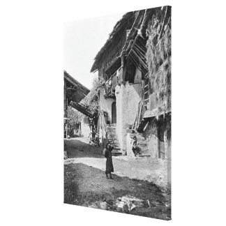 Village of Valais, early 20th century Canvas Print