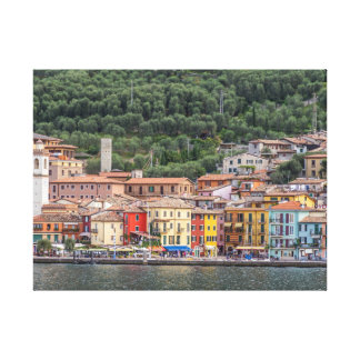 Village on Lake Garda canvas print