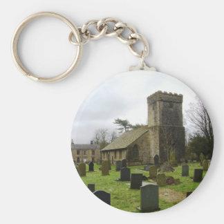 Village pics basic round button key ring