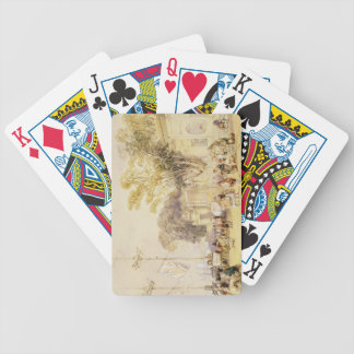 Village Square in the Bay of Hong Kong, plate 5 fr Bicycle Playing Cards