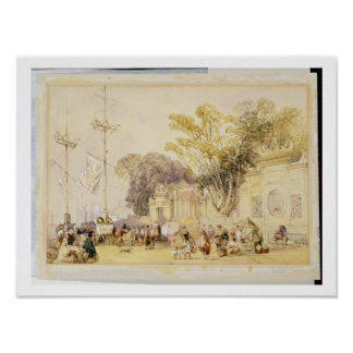 Village Square in the Bay of Hong Kong, plate 5 fr Poster