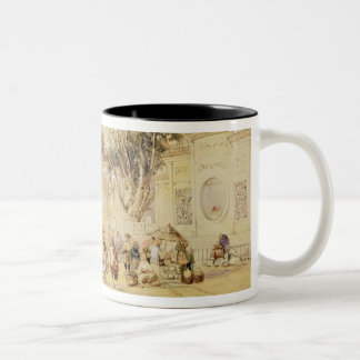 Village Square in the Bay of Hong Kong, plate 5 fr Two-Tone Coffee Mug