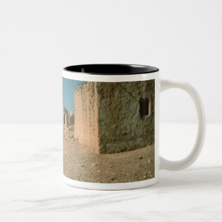 Village Street with Houses Two-Tone Coffee Mug
