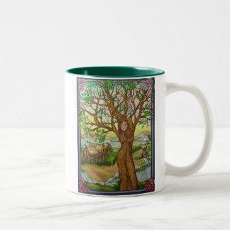 Village Tree Spirit Green Coffee Mug