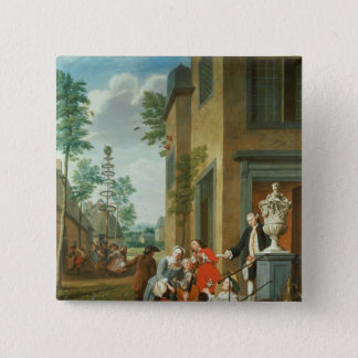 Villagers Merrymaking 15 Cm Square Badge