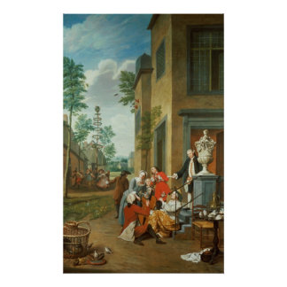 Villagers Merrymaking Poster