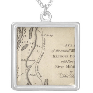 Villages in the Illinois Country Silver Plated Necklace