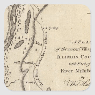 Villages in the Illinois Country Square Stickers