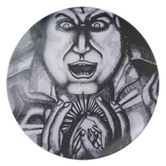 Villain holding orb Plate