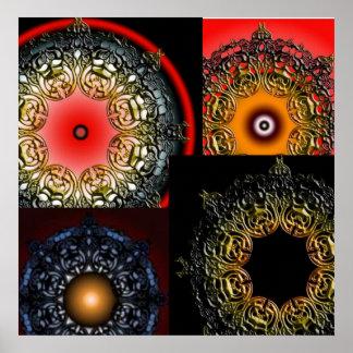 Villain Mandala Collage Poster