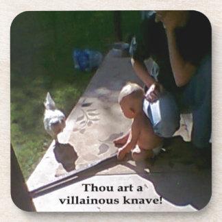 Villainous chicken drink coaster