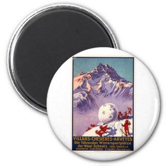 Villars Chesieres Arveyes 6 Cm Round Magnet