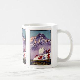 Villars, Switzerland, Vintage Travel Poster Basic White Mug