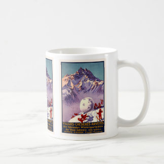 Villars, Switzerland, Vintage Travel Poster Coffee Mug