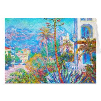 Villas at Bordighera  Claude Monet Card
