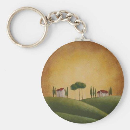 Villas on Tuscan Hills Basic Round Button Key Ring