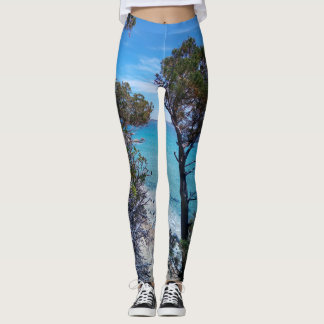 Villasimius beach view leggings