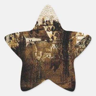 Ville avec le pont de Tumbledown by Victor Hugo Star Sticker