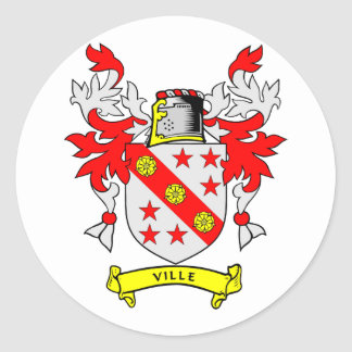 VILLE Coat of Arms Sticker