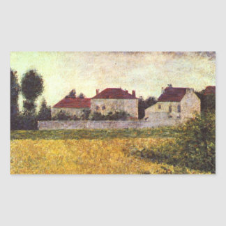Ville d'Avray, The white houses by Georges Seurat Rectangle Sticker