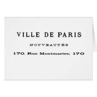 Ville De Paris Nouveautes Greeting Card
