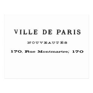 Ville De Paris Nouveautes Postcard