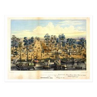 Ville de Sacramento, 1849.  Postcard