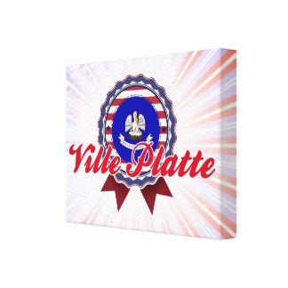 Ville Platte LA Stretched Canvas Print