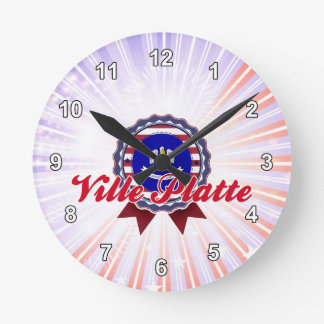 Ville Platte LA Round Wall Clock