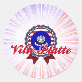 Ville Platte, LA Round Sticker