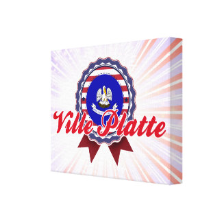 Ville Platte, LA Stretched Canvas Print