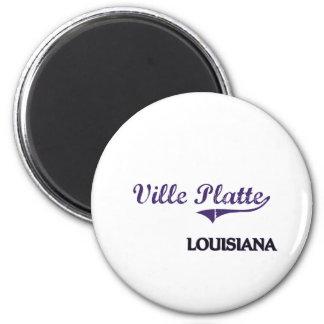 Ville Platte Louisiana City Classic 6 Cm Round Magnet