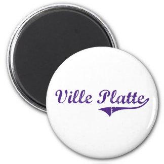 Ville Platte Louisiana Classic Design 6 Cm Round Magnet