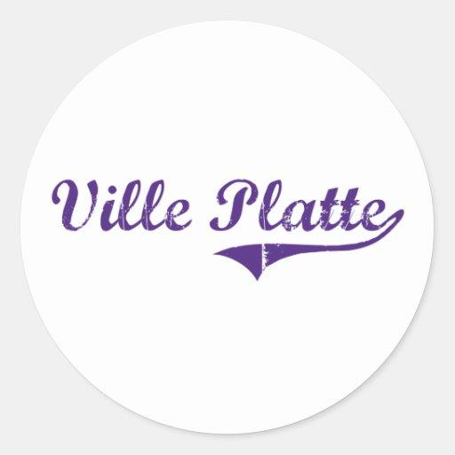 Ville Platte Louisiana Classic Design Round Sticker