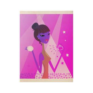 """Vilma"" original wooden art Poster"