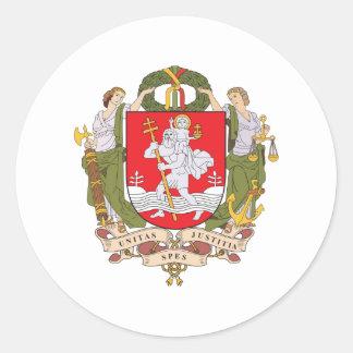 Vilnius Coat Of Arms Classic Round Sticker
