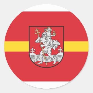 Vilnius, Lithuania Classic Round Sticker
