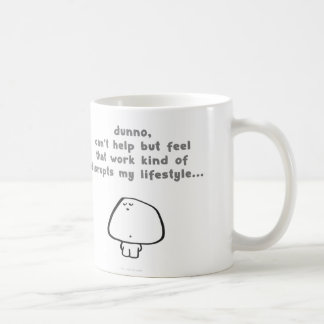 vimrod work disrupts lifestyle basic white mug