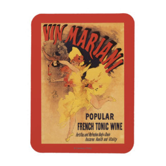 Vin Mariani Dancing Girl Pouring Wine Magnet