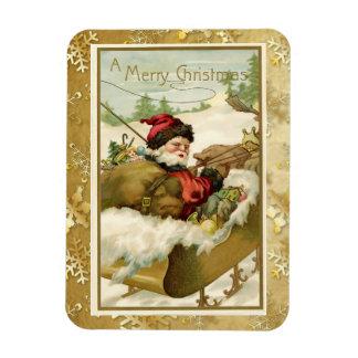 Vinatage Victorian Santa Claus Post Card Art Rectangular Photo Magnet