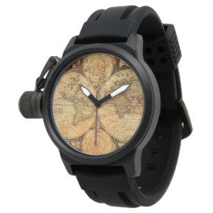 World map wrist watches zazzle uk vinatage world map watch gumiabroncs Gallery