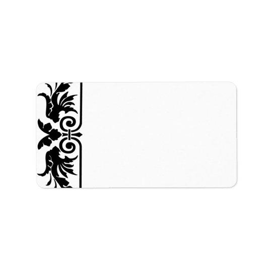 Vinatge Art Nouveau Swirl Address Labels