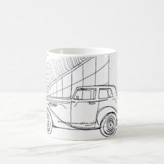Vinatge car sketch mug