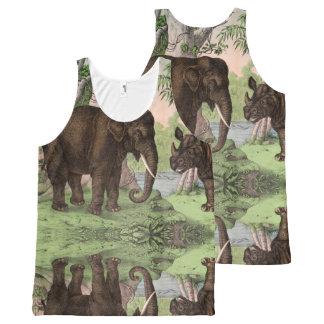 Vinatge Reversible Elephant/Rhino All-Over Print Tank Top