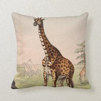 Vinatge Reversible Giraffe Cushion