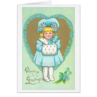 Vinatge Valentine Greetings Niece Greeting Card