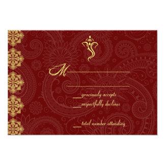 Vinayaka Wedding RSVP Cards Custom Invite